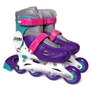 Роликовые коньки Moby Kids  30-33 фиолетовый 641006