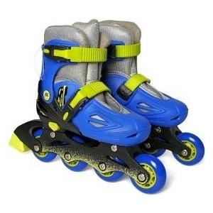 Роликовые коньки Moby Kids р 34-37 сине-зеленый 641021 роликовые коньки moby kids р 34 37 сине зеленый 641021