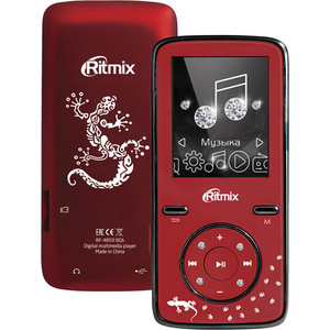 MP3 плеер Ritmix RF-4850 8Gb dark red mp3 плеер ritmix rf 2850 8gb orange blue