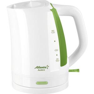 Чайник электрический Atlanta ATH-617 белый/зеленый электрический чайник василиса т1 1500 белый зеленый