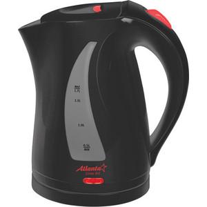 Чайник электрический Atlanta ATH-673 черный чайник электрический atlanta ath 673 коричневый