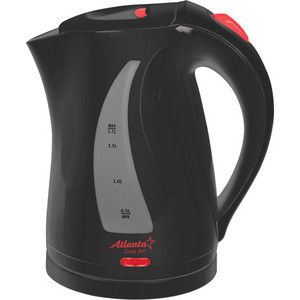 Чайник электрический Atlanta ATH-673 черный чайник atlanta ath 2591
