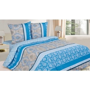 Комплект постельного белья Ecotex 1,5 сп, поплин, Санта-Барбара (КП1Санта-Барбара) барбара вайн книга асты