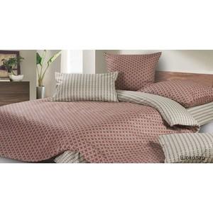 Комплект постельного белья Ecotex 1,5 сп, поплин, Шоколад (КП1Шоколад)