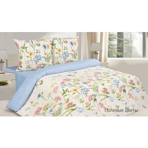 Комплект постельного белья Ecotex Евро, поплин, Полевые цветы (КПРЕПолевые цветы)