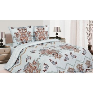 Комплект постельного белья Ecotex Евро, поплин, Восточный тюльпан (КПЕВосточный тюльпан)