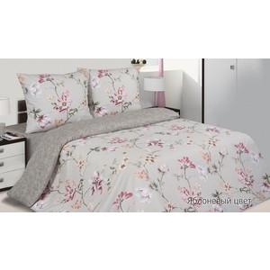 Комплект постельного белья Ecotex Евро, поплин, Яблоневый цвет (КПЕЯблоневый цвет) натральный цвет