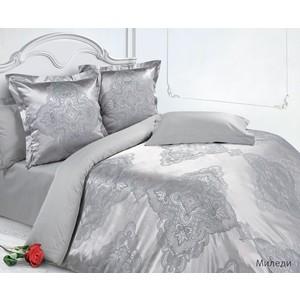 Комплект постельного белья Ecotex Евро, сатин-жаккард, Миледи (КЭЕМиледи) комплект постельного белья ecotex евро сатин жаккард мерседес кэечмерседес
