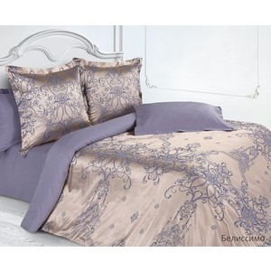 цена на Комплект постельного белья Ecotex Семейный, сатин-жаккард, Белиссимо (КЭДчБелиссимо)