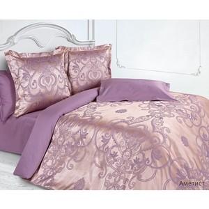 Комплект постельного белья Ecotex Семейный, сатин-жаккард, Аметист (КЭЕчАметист)