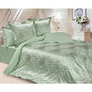 Комплект постельного белья Ecotex Евро, сатин-жаккард, Летний сад (КЭЕчЛетний сад) цена