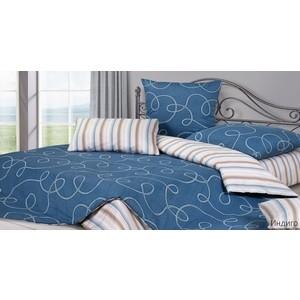 Комплект постельного белья Ecotex 1,5 сп, сатин, Индиго (КГ1Индиго) бязевый 1 5 спальный комплект жаркое лето размер 1 5 сп