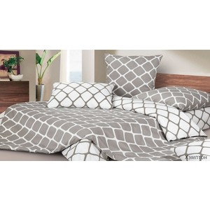Комплект постельного белья Ecotex Семейный, сатин, Хэмптон (КГДХэмптон)
