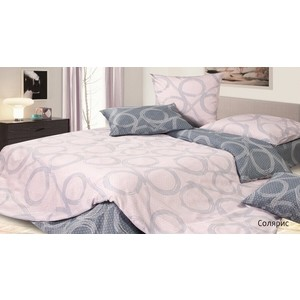 Комплект постельного белья Ecotex Евро, сатин, Солярис (КГЕСолярис)