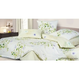Комплект постельного белья Ecotex Евро, сатин, Цветочный ноктюрн (КГЕЦветочный ноктюрн) ноктюрн 6 cтенка