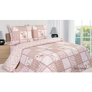 Комплект постельного белья Ecotex 1,5 сп, поплин, Экзотика (КП1Экзотика)