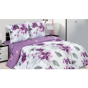 Комплект постельного белья Ecotex Евро, поплин, Альва (КПРЕАльва)