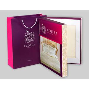 Комплект постельного белья Ecotex 1,5 сп, сатин-жаккард, Флокатти (КЭ1Флокатти) комплект постельного белья ecotex 2 х сп сатин жаккард джульетта кэмджульетта