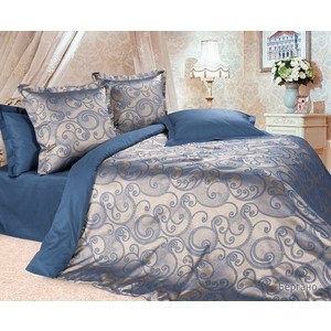 Комплект постельного белья Ecotex Евро, сатин-жаккард, Бергано (КЭЕБергано) комплект постельного белья ecotex евро сатин жаккард мерседес кэечмерседес