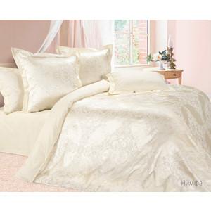 Комплект постельного белья Ecotex Евро, сатин-жаккард, Нимфа (КЭЕНимфа) все цены