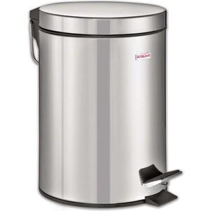 Ведро-контейнер для мусора (урна) с педалью Лайма Classic 12л зеркальное, нержавеющая сталь 232261 ведро контейнер для мусора лайма classic с педалью цвет серебристый 30 л