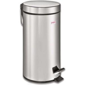 Ведро-контейнер для мусора (урна) с педалью Лайма Classic 30л зеркальное, нержавеющая сталь 232263 ведро контейнер для мусора лайма classic с педалью цвет серебристый 30 л