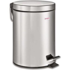 Ведро-контейнер для мусора (урна) с педалью Лайма Classic 5л зеркальное, нержавеющая сталь 232260 ведро контейнер для мусора лайма classic с педалью цвет серебристый 30 л