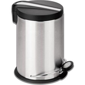 Ведро-контейнер для мусора (урна) с педалью Лайма Modern 12л матовое, нержавеющая сталь 232264 ведро эм 12л конич с кр б рис с41224 с41224п 990441