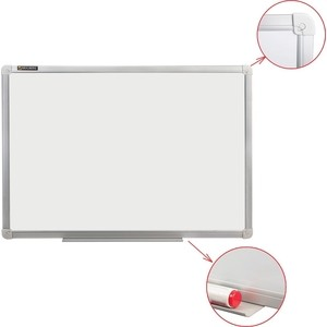 Доска магнитно-маркерная BRAUBERG Стандарт 100x150 см алюминиевая рамка 235523 все цены