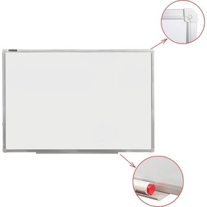 Доска магнитно-маркерная BRAUBERG Стандарт 60x90 см алюминиевая рамка 235521