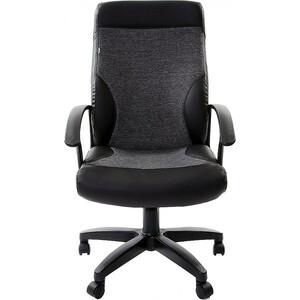 Кресло офисное Brabix Trust EX-535 экокожа черная ткань серая 20-23 531383