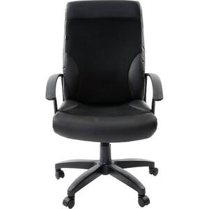 Кресло офисное Brabix Trust EX-535 экокожа черная ткань черная TW 531384 кресло офисное brabix heavy duty hd 001 экокожа 531015