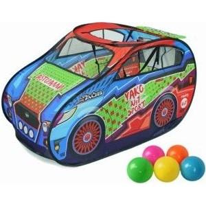 Палатка игровая Наша Игрушка Авторалли, в комплекте пластмассовые шарики 20 шт., сумка на молнии палатка игровая наша игрушка лягушонок 100 100 98см сумка