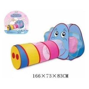 Палатка игровая Наша Игрушка с туннелем Слоненок, сумка палатка игровая наша игрушка лягушонок 100 100 98см сумка
