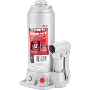 Домкрат гидравлический бутылочный Matrix 5т 216-413мм Master (50721) домкрат matrix 50756 бутылочный 5т h подъема 216–413мм в пласт кейсе
