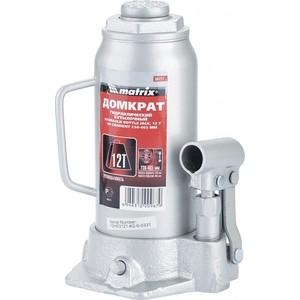 Домкрат гидравлический бутылочный Matrix 12т 230-465мм Master (50727) пассатижи люкс профи fit 50727