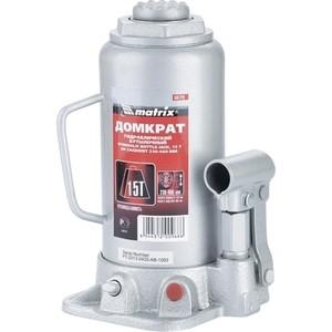 Домкрат гидравлический бутылочный Matrix 15т 230-460мм Master (50729) линейка уровень 1200 мм matrix master 30579