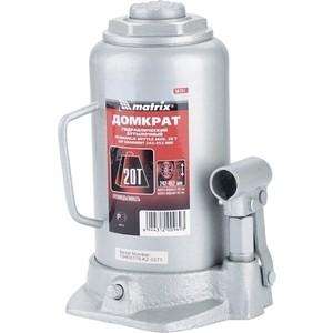 Домкрат гидравлический бутылочный Matrix 20т 242-452мм Master (50731) цена