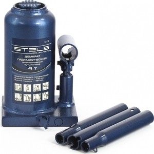 Домкрат гидравлический бутылочный телескопический Stels 4т 170-420мм (51116) домкрат гидравлический бутылочный stels 2т 181 345мм 51121