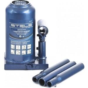 Домкрат гидравлический бутылочный телескопический Stels 6т 170-420мм (51117) домкрат гидравлический бутылочный stels 2т 181 345мм 51121