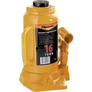 Домкрат гидравлический бутылочный SPARTA 16т 220-420мм (50327) домкрат гидравлический бутылочный sparta 2т 148 278мм 50321