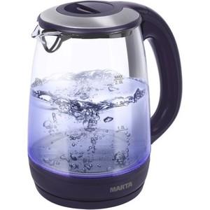 Чайник электрический Marta MT-1094 темный топаз мультиварка marta mt 4301 темный янтарь