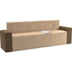 Кухонный диван АртМебель Династия микровельвет бежево-коричневый кухонный диван артмебель лина микровельвет коричневый