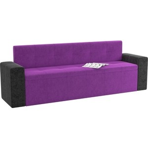 Кухонный диван АртМебель Династия микровельвет фиолетово-черный династия