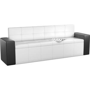 Кухонный диван АртМебель Династия эко-кожа бело-черный кухонный диван артмебель лина эко кожа черный