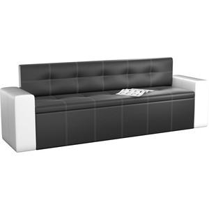 Кухонный диван АртМебель Династия эко-кожа черно-белый кухонный диван артмебель лина эко кожа черно белый