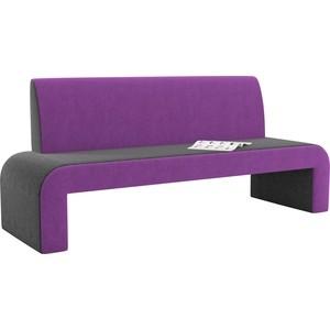 Кухонный диван АртМебель Кармен микровельвет черно-фиолетовый цена