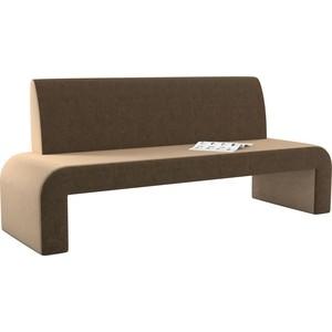 Кухонный диван АртМебель Кармен микровельвет бежево-коричневый кухонный диван артмебель классик микровельвет бежево коричневый