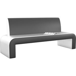 Кухонный диван АртМебель Кармен эко-кожа бело-черный