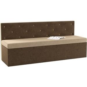 Кухонный диван АртМебель Салвадор микровельвет бежево-коричневый кухонный диван артмебель классик микровельвет бежево коричневый